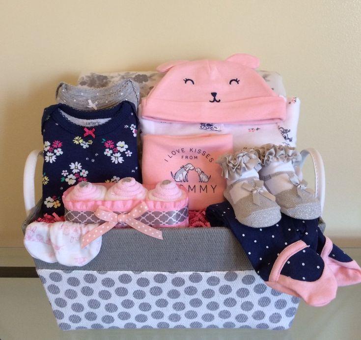 Mommy's Kisses Baby Girl Gift Basket
