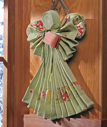 Kitchen Linen Angels: 1 kitchen towel, 1 dish cloth, 1 hot pad