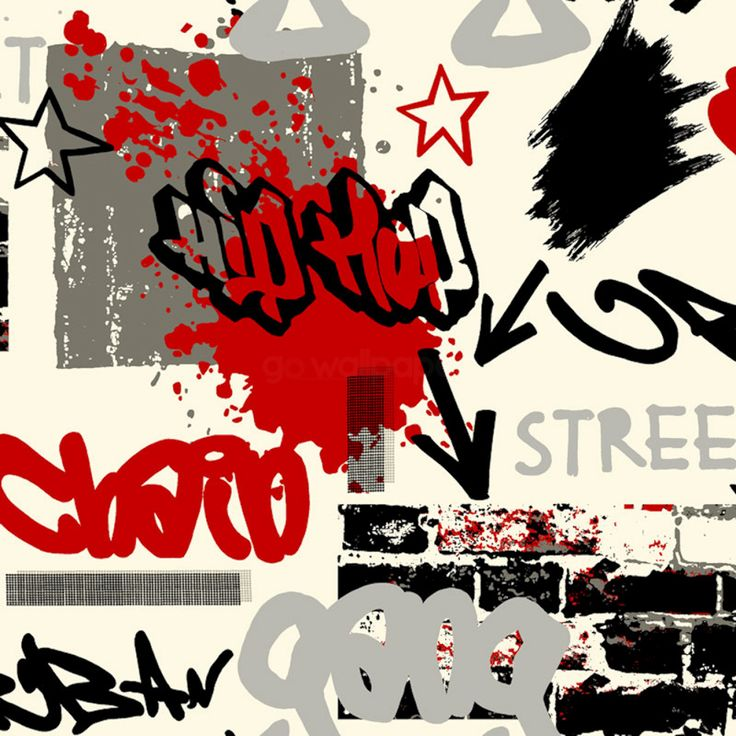 Incorporating Graffiti Wallpaper into a Teenage Bedroom  - http://www.godecorating.co.uk/incorporating-graffiti-wallpaper-into-a-teenage-bedroom/