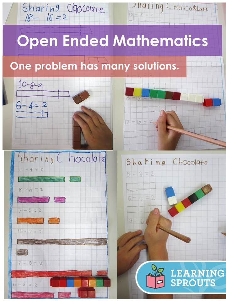 71 best Open Ended Mathematics images on Pinterest | Teaching ideas ...