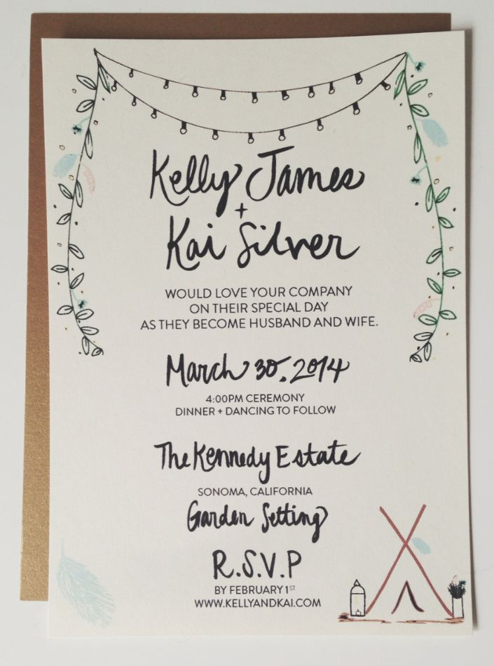 Garden Wedding Invitation - Anelise Salvo Design Co.