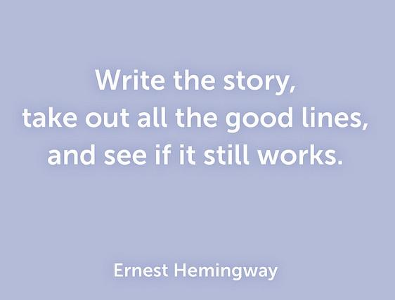 Tips from Ernest Hemingway's short stories