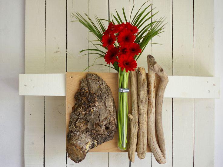 Spectacular Vase Blumendekoration Wanddeko Wandvase Natur