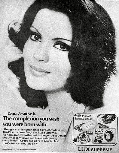 Vintage Lux Ads - Zeenat Aman has it, complexion you wish you were born with :)