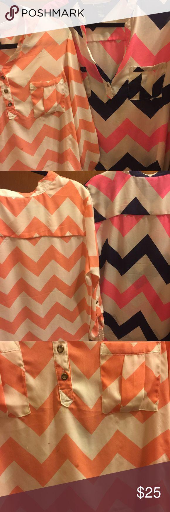 Pink dress shirt Rue 21 dress shirt. Pink only!! Rue 21 Tops Button Down Shirts