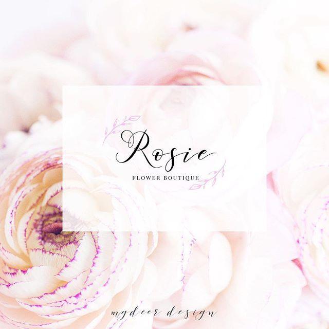 Egy meseszép logó egy lánynak, aki arról álmodik, hogy egy nap virágboltot nyit. <3 www.mydeerdesign.com