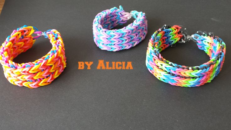 Bratara tripla din elastice rubber bands by  ALICIA HOMEMADE