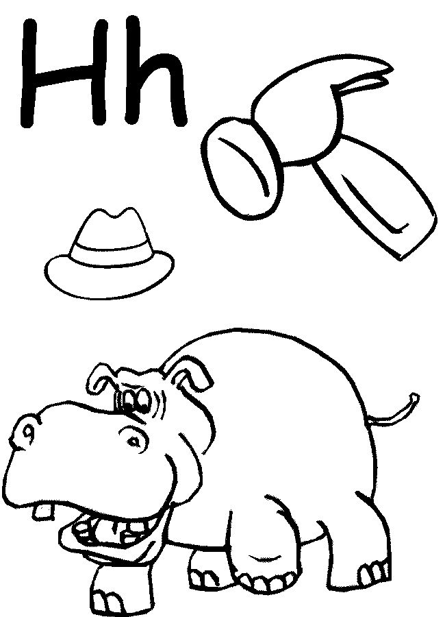 educational coloring pages for preschoolers - letter h worksheets for preschoolers letter h coloring