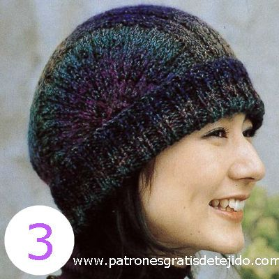 106 best Gorros a dos agujas damas images on Pinterest | Gorros ...