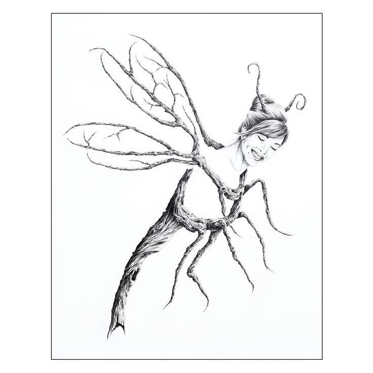 "Graphite 10"" X 8"", LIBELLULE, Belle demoiselle elle parade... avide d'une sérénade.  DRAGONFLY, A beautiful lady, she promenades ... longing for a serenade. #drawing #artcollectors #graphite #art #artwork"