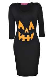 Plus Size Halloween Pumpkin Dress  Click image to go to site to explore and buy!  #Halloween #Costume #Black #PumpkinPatch #Pumpkin #Orange #Sleeves #OOTD #OOTN #WIWT #Cute #ScaryFace #PlusSize #Tight #Bodycon #SpookyPumpkin #Scary #Fashion #Stripes #Stripy #Relaxed #Fatshion #FBloggers #PSBloggers #WhatLauraLoves  Blog Post: http://www.whatlauralovesuk.com/2014/10/halloween-outfit-inspiration.html
