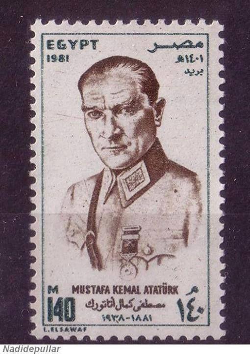 Mustafa Kemal Atatürk . Egyptian stamp