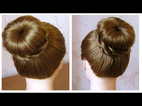 Tuto coiffure simple chignon bun cheveux long (soirée