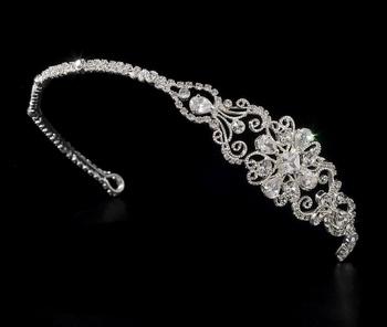 Silver Plated Bridal Headband HP 8253