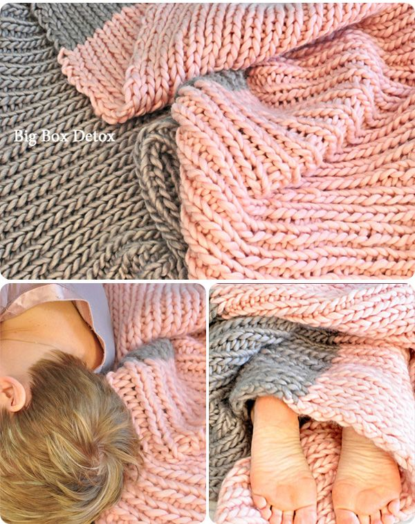 Beautiful Knit Blanket. Great tutorial. Sounds easy even for us beginners.