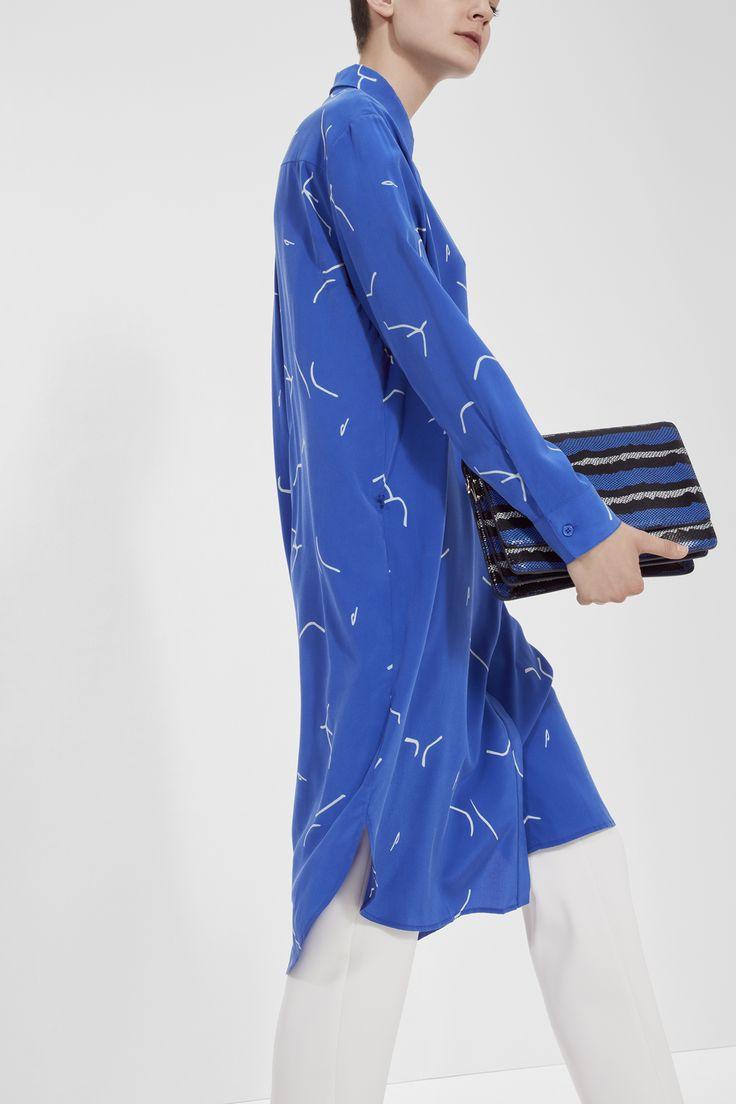Blue mood - Samsøe & Samsøe Summer 2017: Poppy bag and Bristo shirt dress.