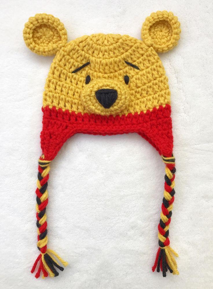 Winnie The Pooh Crochet Hat Photo Props Crochet beanie baby