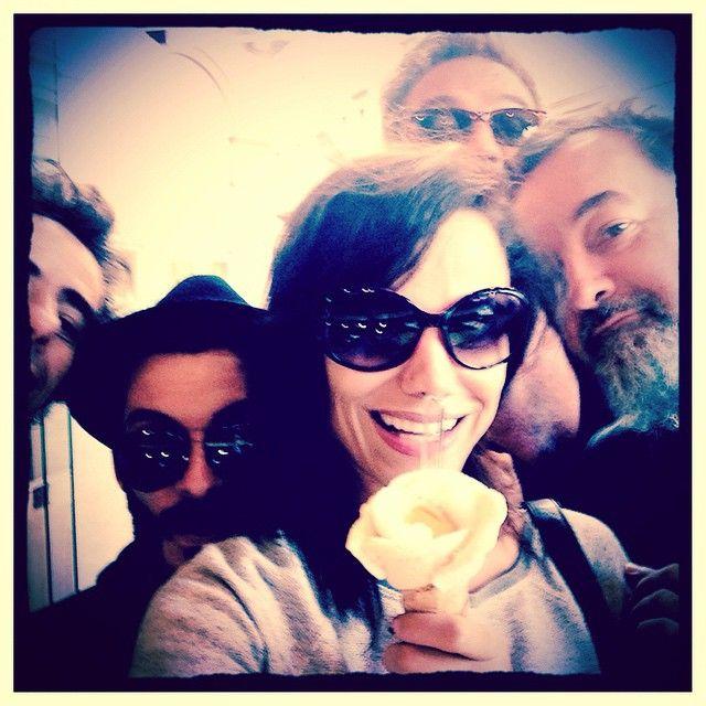 Day off. ~It's not a flower but an ice cream. Enjoying a sweet desert for once with our musicians: Matthieu Rabaté, Laurent Cockelaere, Solal and our hairstylist Yann ~Non ce n'est pas une fleur mais une amorino de glace!! Péché de gourmandise avec nos Vodka people, Solal & Yann, petit dessert sucré pour une fois :) (si si pour une fois, depuis un mois, Jai limité ma consommation de sucreries, et même en Italie) ;)  #mozartoperarock #selfie #melissamars #toulouse  #icecream #glace…