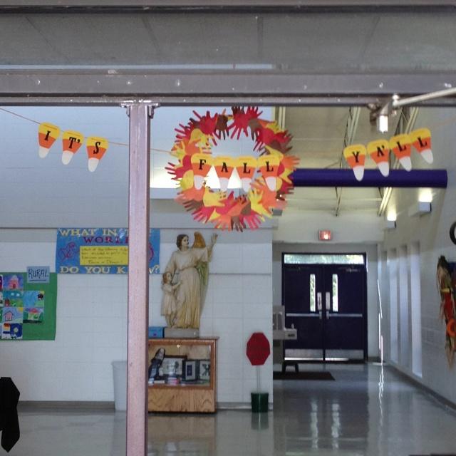 Fall school door decoration