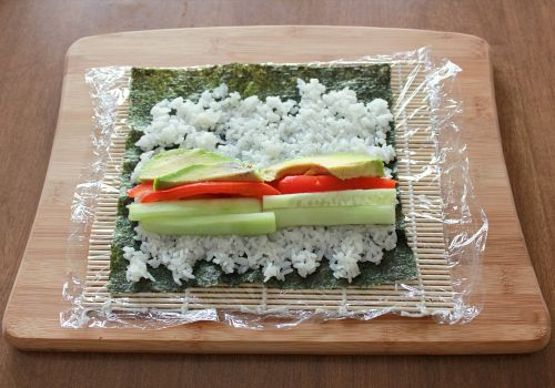 love, laurie: homemade vegetable sushi