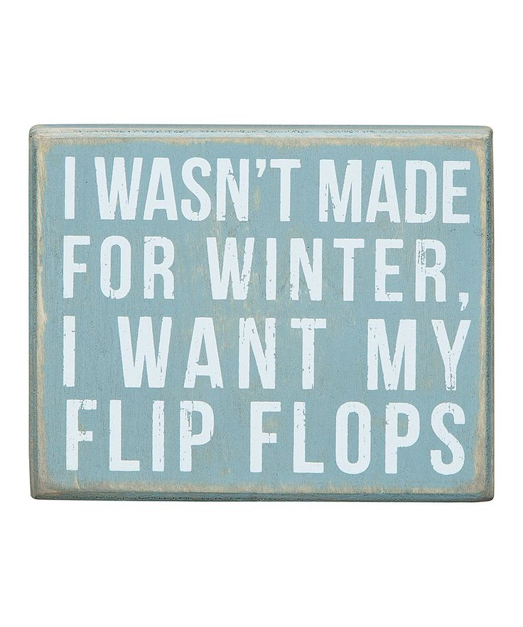 Look at this 'Made for Winter' Box Sign on #zulily today!