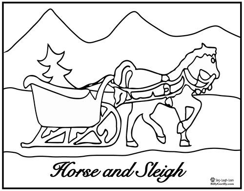 holiday horse coloring pages - photo#8