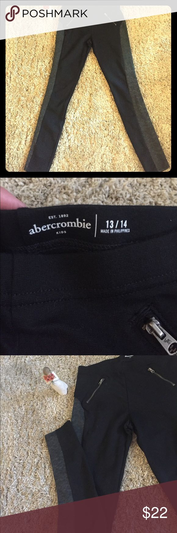 Abercrombie Girls Dress Leggings ❤️🖤 Never worn; tags removed. Quality leggings for a young lady that can be dressed down for school or up for an event. Simply cannot let these leggings go to waste! abercrombie kids Pants Leggings