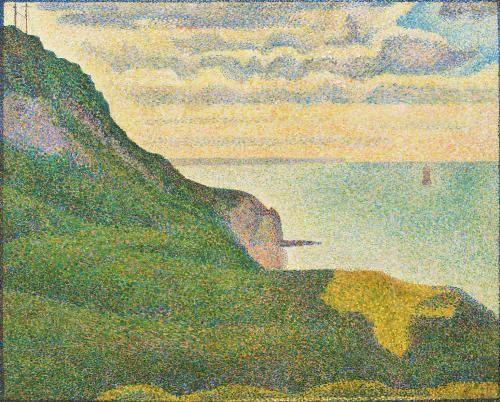 Georges Seurat: Seascape at Port-en-Bessin, Normandy, 1888.