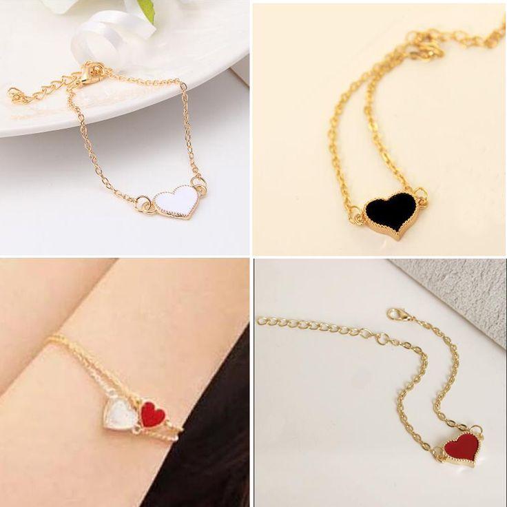 Joyería de La Venta de Buena Calidad 3 Colores Corazón Pulsera Para Mujer 2016 Nuevos pulseras y brazaletes Precio de fábrica CALIENTE SL01