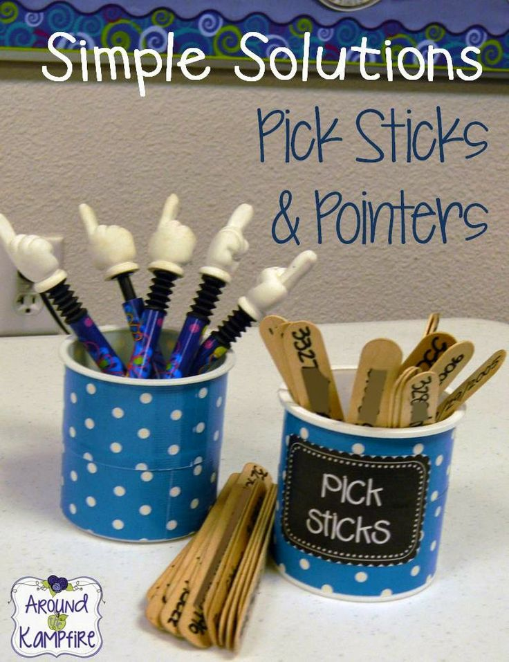 Owl-ways Be Inspired: Show Us How You Use It: Student Logins Made Easy With Popsicle Sticks! These also double as name calling sticks!