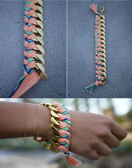 e7352b2af45d Collar trenzado DIY  paso a paso