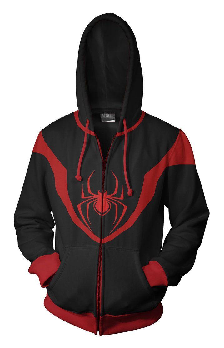 Ultimate Spiderman - Miles Morales Hoodie by ~prathik on deviantART