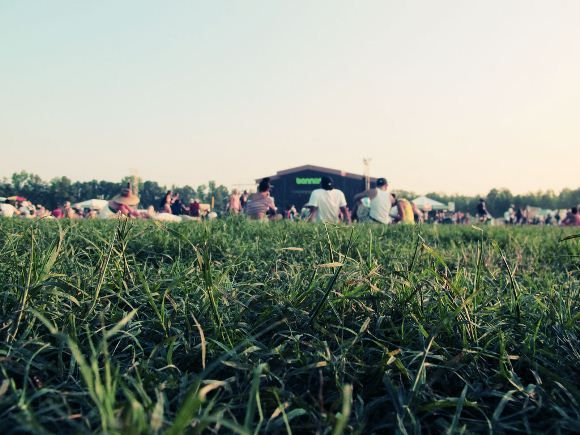 Naps on grass, only at bonnaroo lol