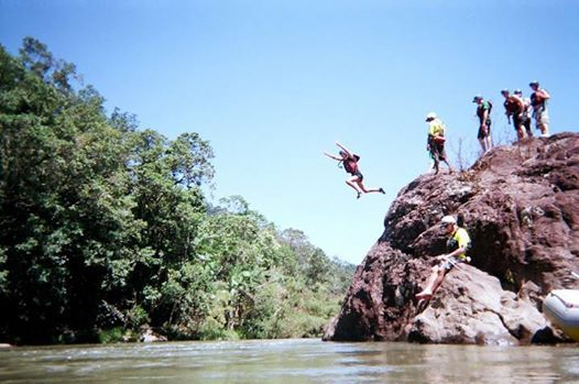 A quick jump while White Water Rafting in Tully, Australia !