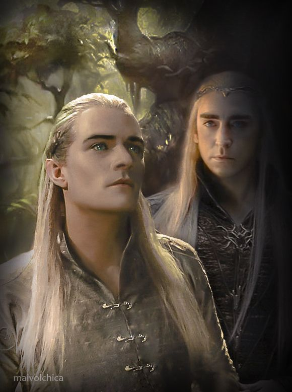 Gorgeous artwork of Legolas and his father, Thranduil by maivolchica