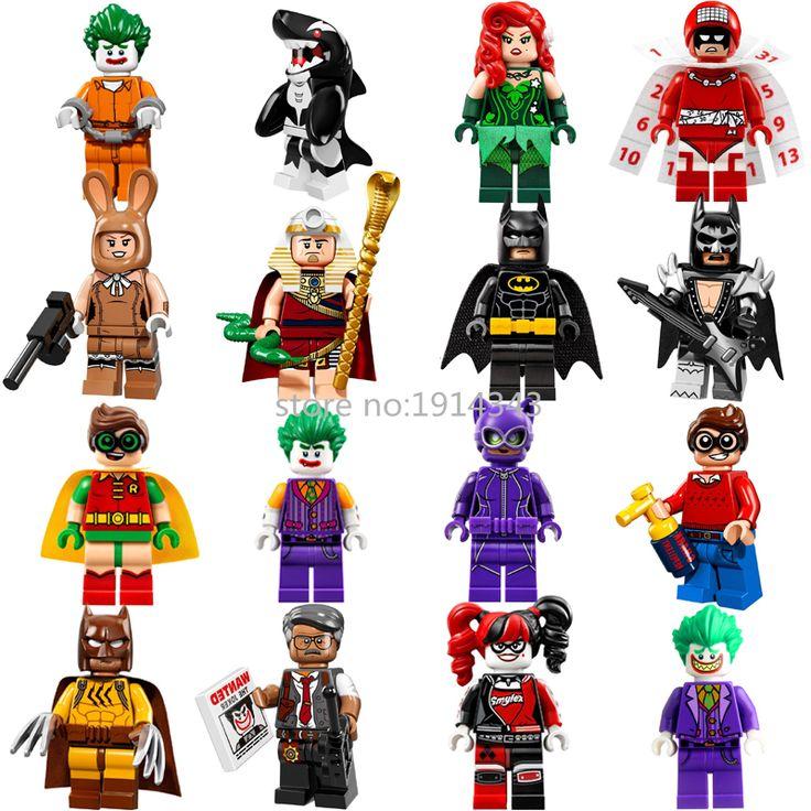 Super Heroes Batman Robin Harley Quinn Killer Whale Joker Calendar People Building Blocks Bricks Figures Toys for Children