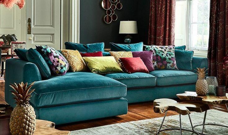 designing your house with turquoise sofa  manndababa