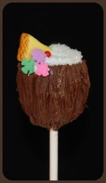 My kids will love these. Cute Hawaiian drink cake pop!