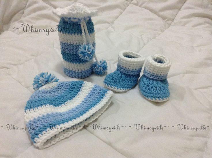newborn set blue