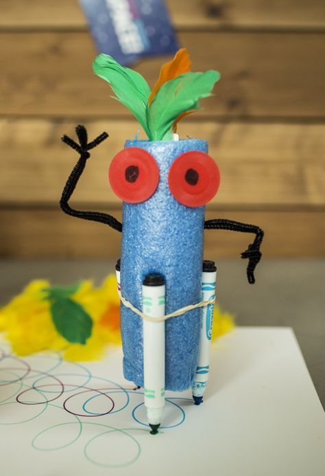 Make your own DIY robot that draws! Check out MSI's Summer Brain Games for instructions on this and seven more science activities.