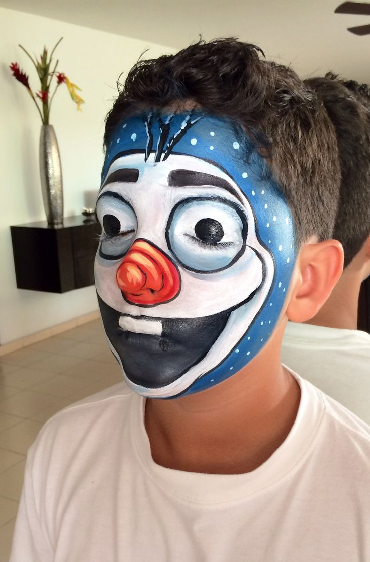 face painting...OLAF
