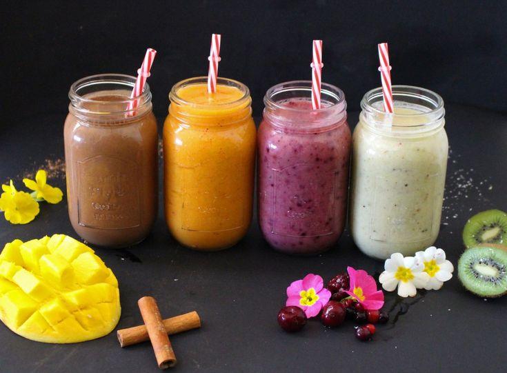 4 sugestões de smoothies para o pequeno-almoço