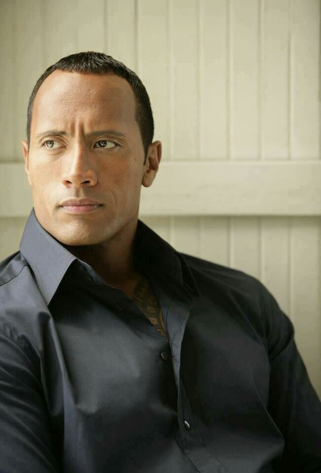 The Rock looking handsome as ever. This man is every girls dream boy