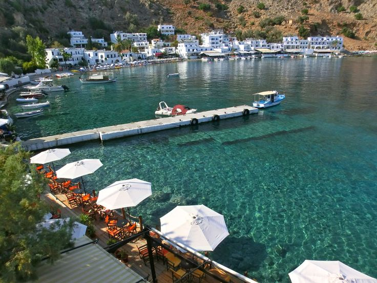 Loutro - have to take a ferry from Chora Skafion  - not accessible by boat
