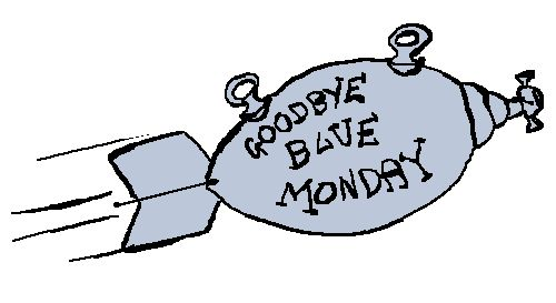 """2. The title for """"Blue Monday"""" came from a drawing in Kurt Vonnegut's book, Breakfast of Champions."""