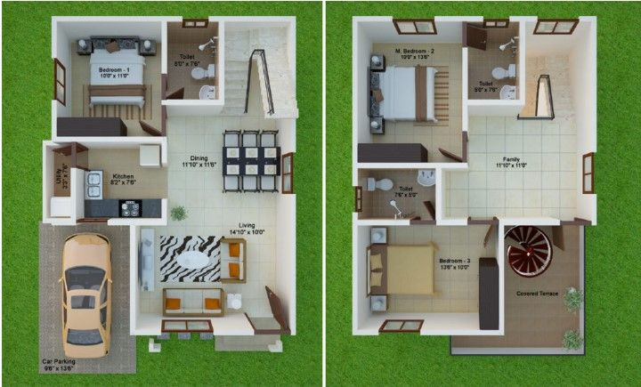 15 Feet By 40 East Facing Beautiful Duplex Home Plan House Layout Plans Home Design Plans 30x40 House Plans