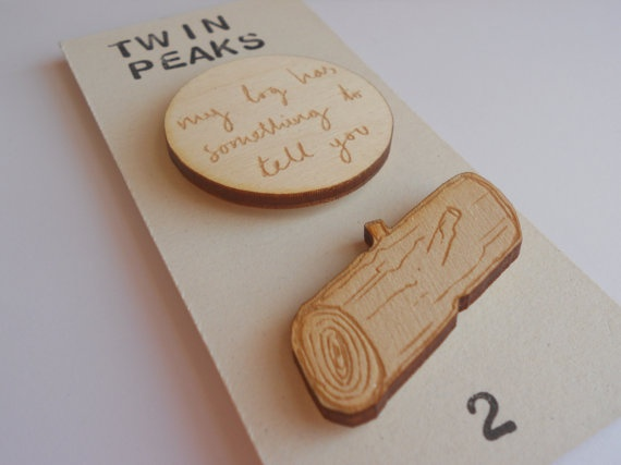 My Log Has Something to Tell You - Brooches by kateslittlestore on etsy