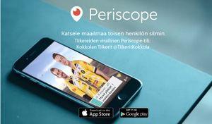 Kokkolan Tiikerit - Tiikerit kokeilee uutta sosiaalisen median kanavaa Periscopea