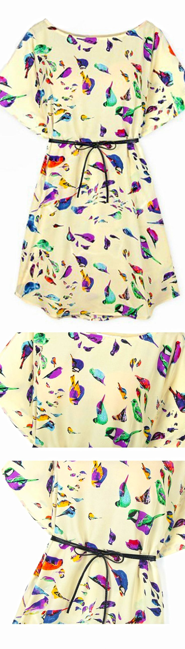 Take a look at this bird print shirt dress,love the style,you won't be disappointed! Find it at SheIn.com
