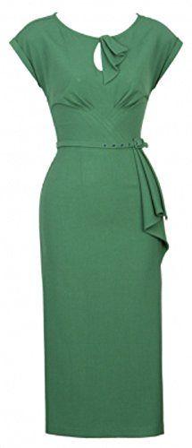 MUXXN Women 50s Vintage Bodycon Party Dress Green with Belt (S) MUXXN http://smile.amazon.com/dp/B00R27X5WY/ref=cm_sw_r_pi_dp_rS9Tub1M9YJMW